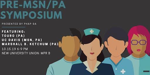 PHAP Pre-Health Symposium: MSN/PA