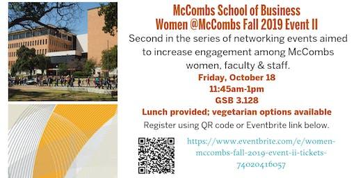 Women @McCombs Fall 2019 Event II