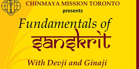 Fundamentals of Sanskrit tickets