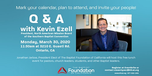BFC Q&A with Kevin Ezell | President of the North American Mission Board