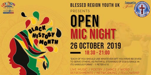Black History Month - Open Mic Night