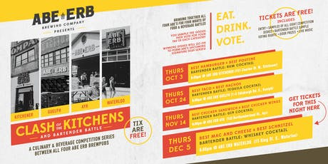 Clash of the Kitchens - Dec 5 @ Abe Erb Waterloo tickets
