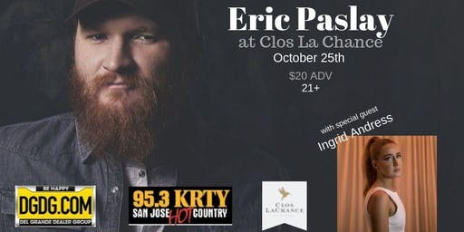 95.3 KRTY and DGDG.Com present a Special Acoustic Night with Eric Paslay
