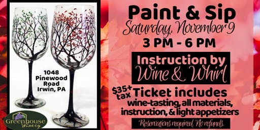 Fall Wine Glass Paint and Sip