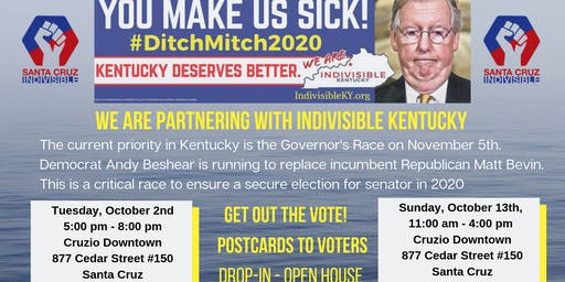 #Ditch Mitch Campaign - Postcards to Voters in KY - Oct 22