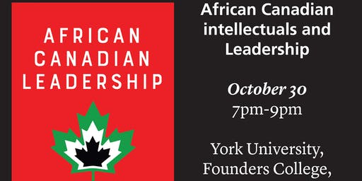 African Canadian intellectuals and Leadership
