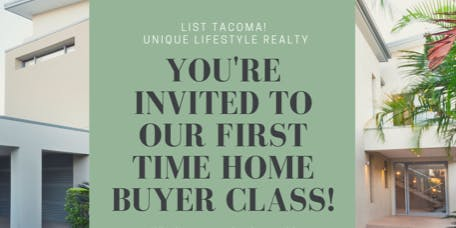First Time Home Buyer Class 10/15 @6pm - Unique Lifestyle Realty