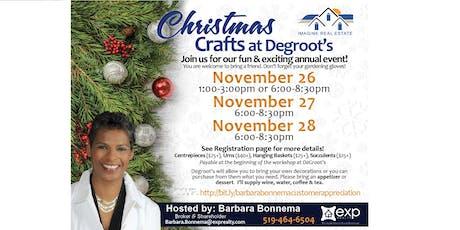 Barbara Bonnema - Customer Appreciation - Christmas Crafts at Degroots tickets