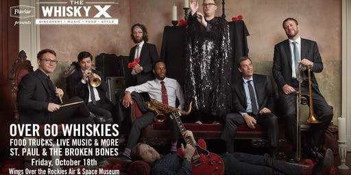 Flaviar Presents The WhiskyX Denver with St. Paul and the Broken Bones Live