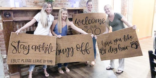 WARWICK TEACHERS NIGHT OUT DIY WELCOME MAT PAINT NIGHT AT PORTSIDE