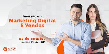 Imersão Presencial sobre Marketing Digital + Vendas ingressos