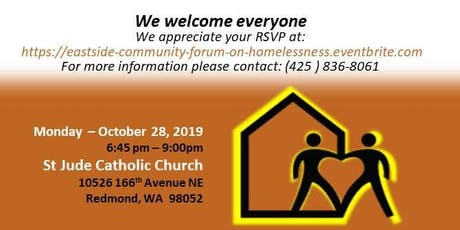 Eastside Community Forum on Homelessness and Poverty tickets