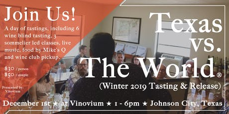 Texas vs. The World® (Winter Tasting & Release) tickets