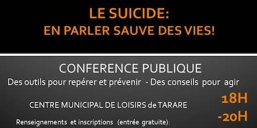 Le suicide: en parler sauve des vies!