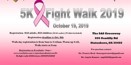 Statesboro District No. 18 5K Fight Walk 2019 tickets