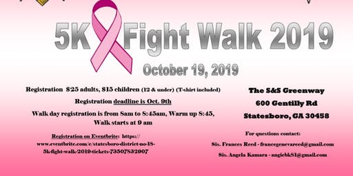 Statesboro District No. 18 5K Fight Walk 2019