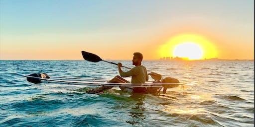 TRANQUIL Island Beach CLEAR Bottom Kayak