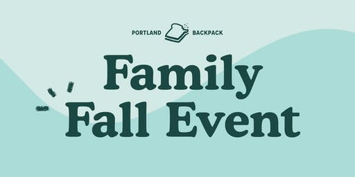 Portland Backpack Family Fall Event
