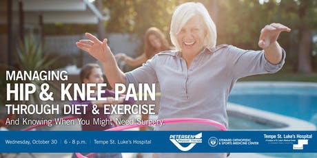 Managing Hip & Knee Pain Through Diet & Exercise tickets