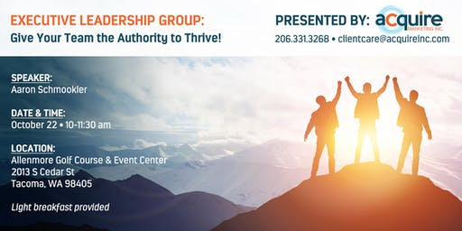Give Your Team the Authority to Thrive!