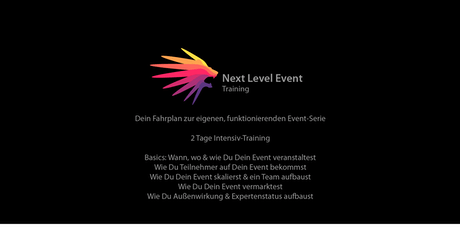 Next Level Event Training | Dein Fahrplan zur eigenen, funktionierenden Event-Serie Tickets