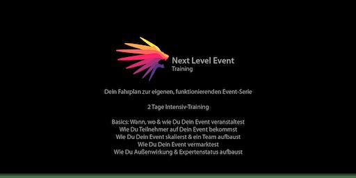 Next Level Event Training | Dein Fahrplan zur eigenen, funktionierenden Event-Serie