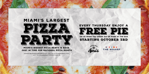 Miami's Largest Pizza Party