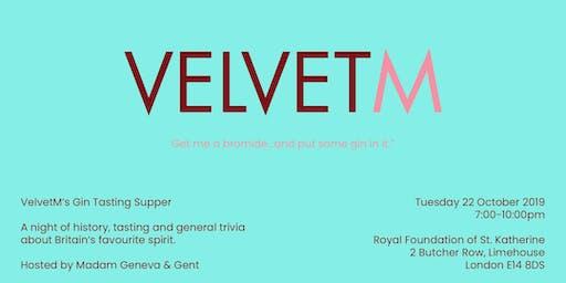 VelvetM's Gin Tasting Supper