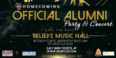 I LOVE CAU!  THE Official 2019 Homecoming Alumni Party & Concert tickets