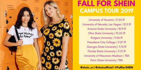 Fall for SHEIN 2019 Tour: Rutgers University - New Brunswick tickets