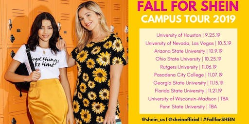 Fall for SHEIN 2019 Tour: Rutgers University - New Brunswick