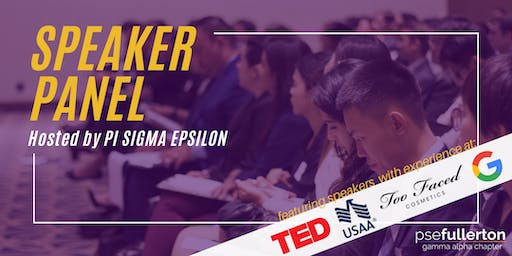 Speaker Panel - Pi Sigma Epsilon