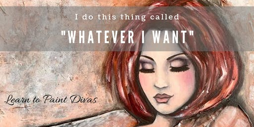 Learn to Paint Divas 1 Day Mixed Media Painting Workshop 20/10/19