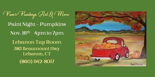 Paint Class - Picking Pumpkins
