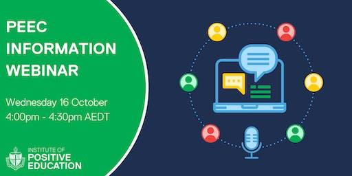 PEEC Information Webinar