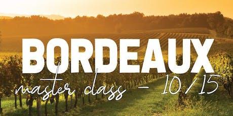 Bordeaux Master Class tickets