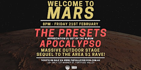 Welcome To Mars - Dance Party tickets