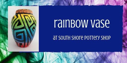 Rainbow Ombre Ceramic Vase Workshop