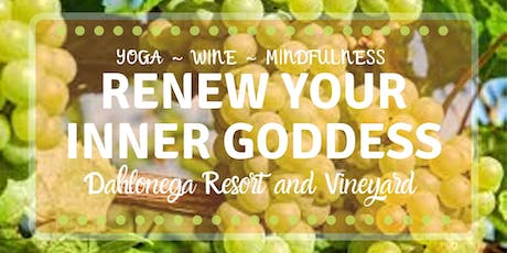 Renew Your InnerGoddess with 3 Days of Yoga, Wine, Mindfulness, & Labyrinth tickets