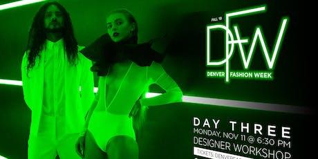 Day 3: Designer Workshop: Tech Pack Boot Camp tickets