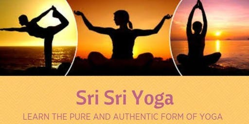Sri Sri Yoga class - Authentic Yoga in its pure form