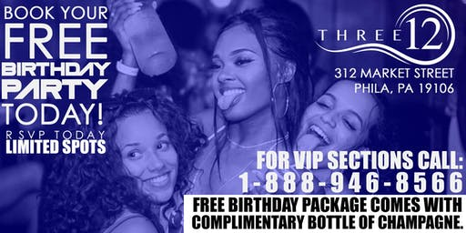 Free Birthday Party at Three12 Lounge