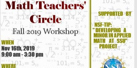 Savannah Math Teachers'  Circle Fall 2019 Workshop