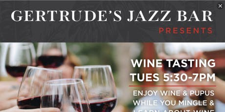 Gertrude's Jazz Bar Wine Tasting tickets