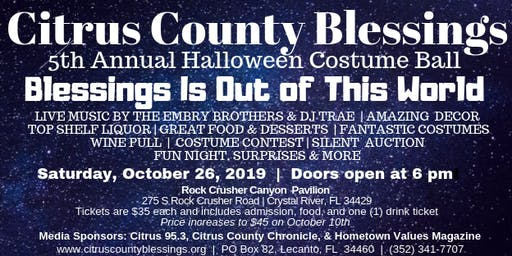 Blessings Halloween Costume Ball 2019