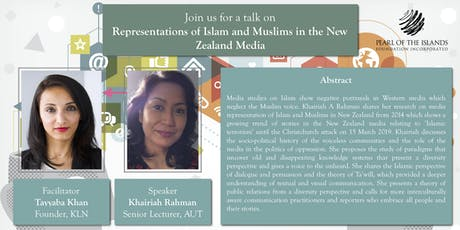 TALK: Representations of Islam and Muslims in the New Zealand Media tickets