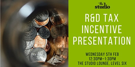 Speaker Series @ The Studio: R&D Tax Incentive Presentation tickets