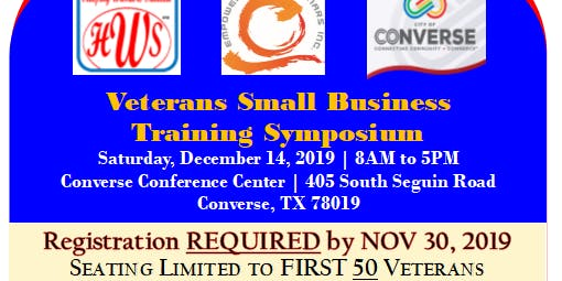Veterans Small Business  Training Symposium - FREE!
