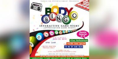 Body BINGO: Adult Social/Interactive Game Night