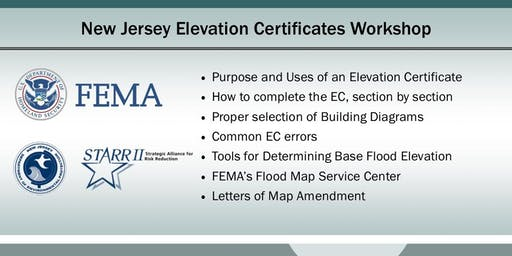 New Jersey  Elevation Certificates Workshop (Bayville)